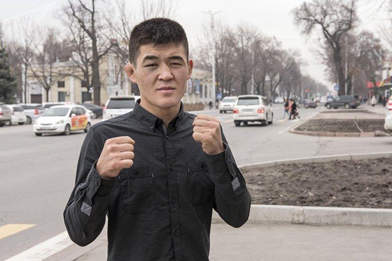 Боец смешанных единоборств, чемпион WEF Global Мырзамидин Пазылов во время интервью Sputnik Кыргызстан