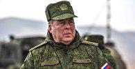 Начальник объединенного штаба ОДКБ Анатолий Сидоров во время учений коллективных сил ОДКБ. Архивное фото