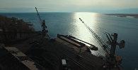 Что осталось от пристани в Балыкчи — аэросъемка