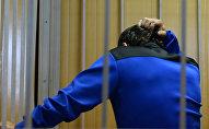 Обвиняемый за решеткой. Архивное фото