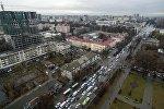 Пересечение проспекта Чуй и улицы Тыныстанова с дрона. Архивное фото