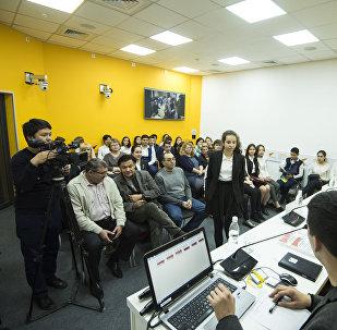 Видеомост Научными проектами бишкекских школьников заинтересовались в России