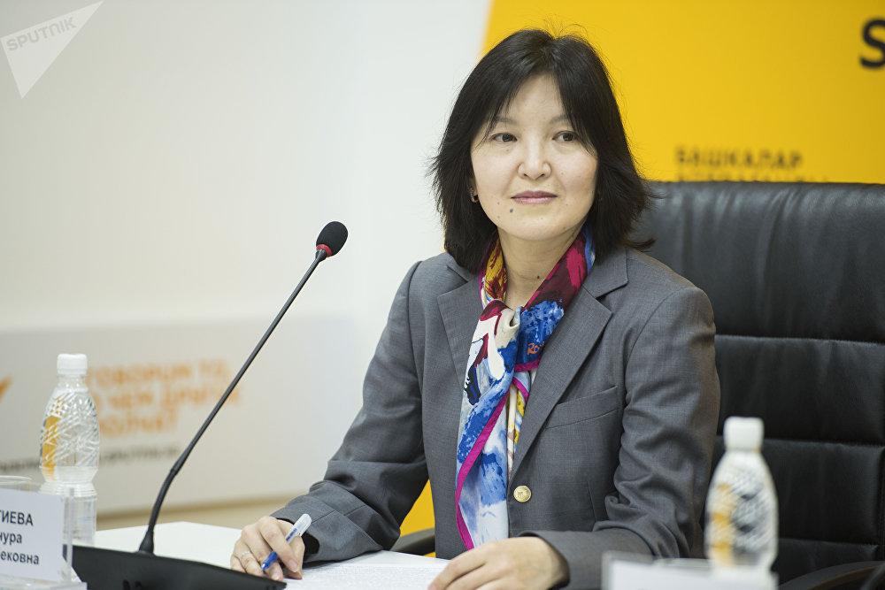 Председатель общественного совета при Министерстве образования и науки КР Айнура Тентиева