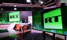 Студия телеканала Russia Today в Москве. Архивное фото