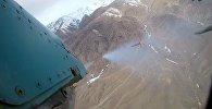 Военные базы ОДКБ показали пуск ракет со штурмовика в горах Кыргызстана