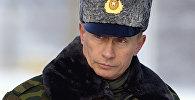 Президент РФ Владимир Путин на космодроме Плесецк. 2004 год