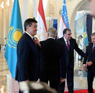 Лидеры стран государств Центральной Азии во время встречи в Астане