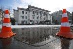 Архивное фото здания посольства Российской Федерации в Киеве