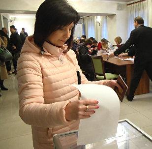 Как проходят выборы президента России в Бишкеке — видео