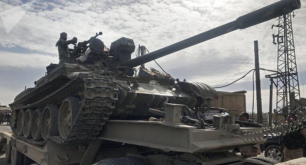 Сирийские военные в Восточной Гуте. Архивное фото