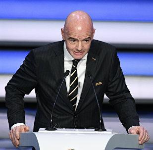 Архивное фото президента FIFA Джанни Инфантино