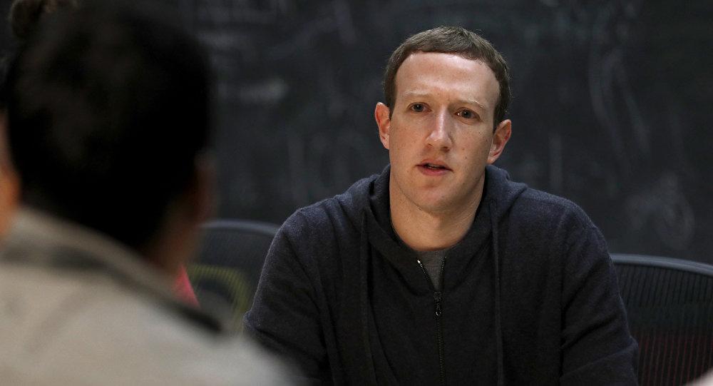 Глава социальной сети Facebook Марк Цукерберг. Архивное фото