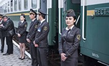 Сегодня, 23 марта, в 19:00 в Кыргызстан прибыл поезд Ташкент - Бишкек - Балыкчы
