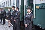 Ташкент — Балыкчы каттамы менен алгачкы поезд бүгүн кечки саат 19.00дө Бишкектеги темир жол станциясына келип токтоду