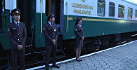 Узбекистанцы в Кыргызстане: видео прибытия поезда Ташкент — Бишкек