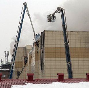 Пожар в торговом центре Зимняя вишня в Кемерово
