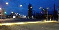 Балыкчы шаарындагы жарыктандырылган жол чийиндер