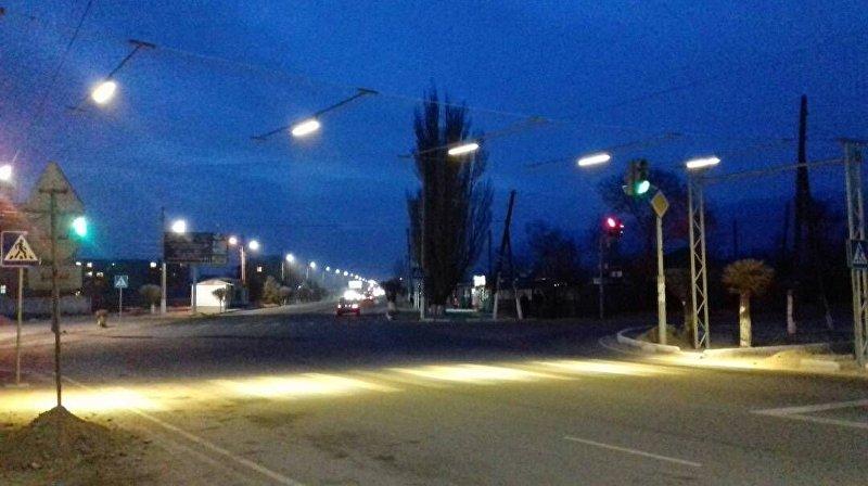 В Балыкчи появились пешеходные переходы с подсветкой