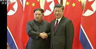 Түндүк Корея лидеринин Пекинде Си Цзиньпин менен жолугушуу учурунда
