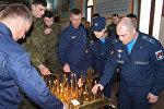 Панихида по жертвам крупного пожара в в Кемерово на авиабазе ОДКБ Кант