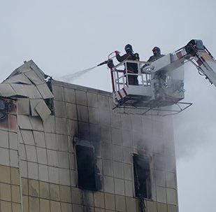Пожар в торговом центре «Зимняя вишня» в Кемерово. Архивное фото