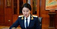 Башкы прокурор Индира Жолдубаеванын архивдик сүрөтү