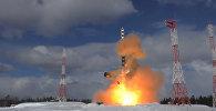 Как прошло испытание баллистической ракеты Сармат в России. Видео
