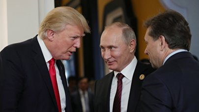 АКШ президенти Дональд Трамп Россиянын президенти Владимир Путин. Архив