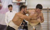 Сумо боюнча Бишкектеги чемпионат. Архивдик сүрөт