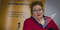 Российский экономист Елена Кузьмина во время конференции