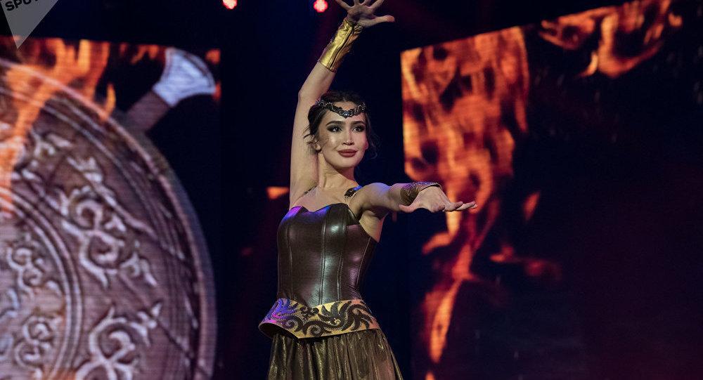 Участница финала конкурса красоты Мисс Казахстан