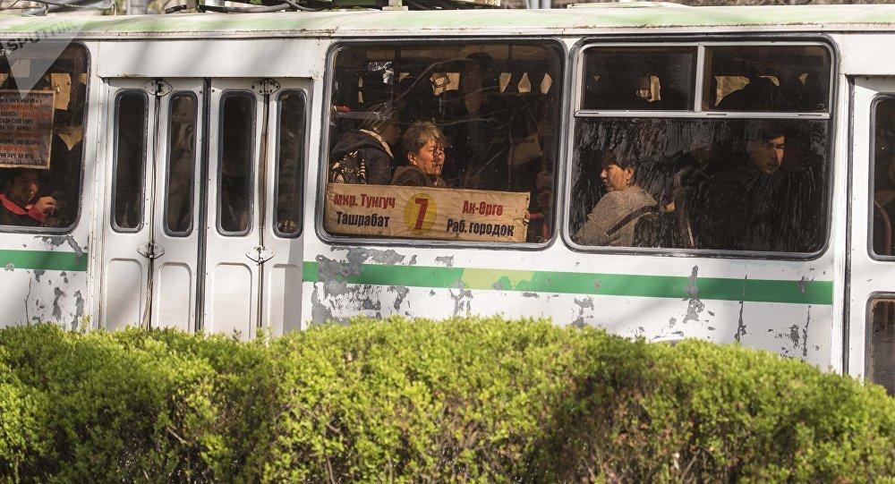 Бишкектеги троллейбус. Архивдик сүрөт