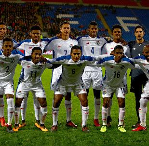 Игроки сборной Панамы по футболу. Архивное фото