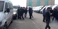 Чего требовали водители маршруток от властей — видео