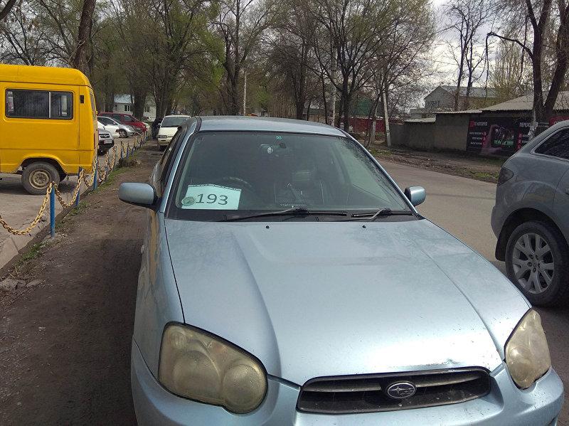 Автомобиль Нуриса Алымбаева, курсировавшего по линии 193-го маршрута