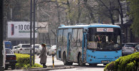 Бишкектеги коомдук автобус. Архивдик сүрөт