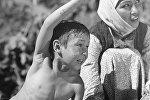 Съемки фильма Белый пароход режиссера Болота Шамшиева