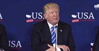 Скучная речь — Трамп отказался читать по бумажке, выбросив листок. Видео