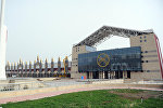 Ипподром и физкультурно-оздоровительный комплекс в селе Бактуу-Долоноту Иссык-Кульского района. Архивное фото
