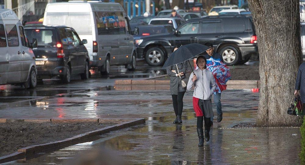 Дождь в Бишкеке