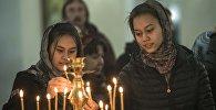 Пасхальное богослужение в Свято-Воскресенском кафедральном соборе в Бишкеке