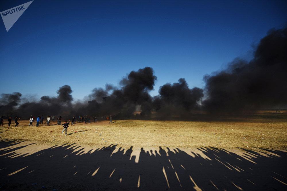 Акции протеста на границе сектора Газа с Израилем