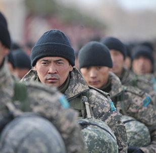 Военнослужащие армии Казахстана. Архивное фото