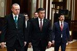 Кыргызстандын президенти Сооронбай Жээнбеков Түркиянын башчысы Режеп Тайип Эрдоган менен Анкарада жолугушуу учурунда
