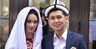 Кыргызстандык ырчылар Нурлан Насип жана Асел Кадырбекова. Архив