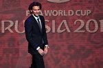 Ассистент жеребьевки уругвайский футболист Диего Форлан на официальной жеребьевке чемпионата мира по футболу 2018.