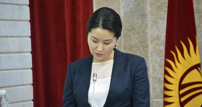 Экс-башкы прокурор Индира Жолдубаева. Архив
