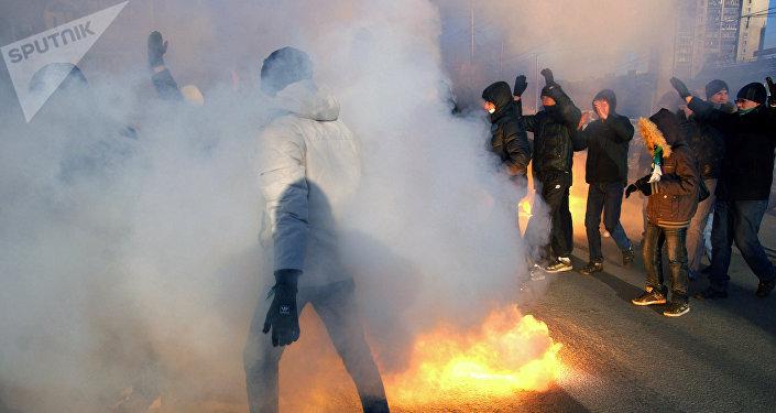 Участники акции протеста. Архивное фото
