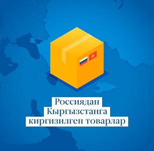 Россиядан Кыргызстанга киргизилген товарлар