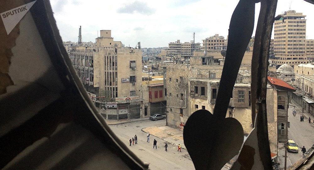 Вид на исторический центр (Старый город) в Алеппо. Архивное фото